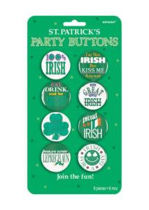 badges saint patrick, accessoires saint patrick, déguisements saint patrick, pins saint patrick, trefles saint patrick, Badges Saint Patrick, 100% Irish