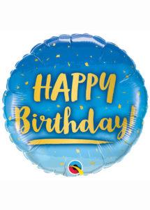 ballon hélium, ballon anniversaire, ballon aluminium, ballons hélium, Ballon Anniversaire, Bleu et Or, en Aluminium