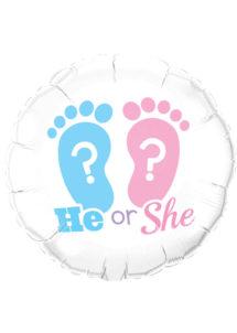 ballon hélium, ballon baby shower, ballon naissance,, Ballon Baby Shower, Fille ou Garçon ?, en Aluminium