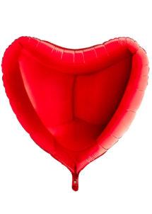 ballon coeur, ballon hélium, ballon aluminium, ballon saint valentin, ballons coeurs rouges, Ballon Coeur Rouge, en Aluminium