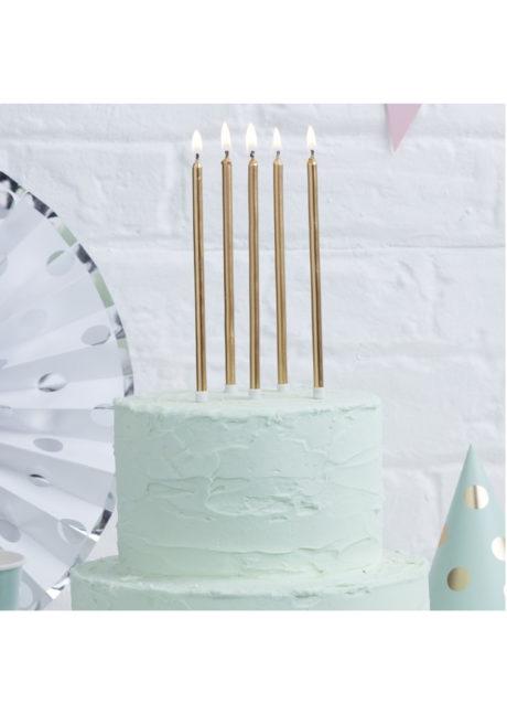 bougies anniversaire, bougies dorées, bougies longues, belles bougies anniversaire, ginger ray, 24 Bougies d'Anniversaire XL, Or