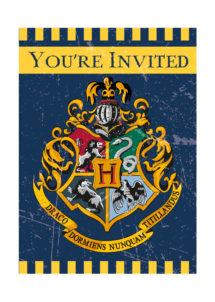 cartes d'invitations anniversaire Harry Potter, invitations Harry Potter, anniversaire Harry potter, Cartes d'Invitations Harry Potter