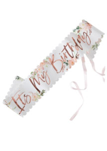 écharpe anniversaire, accessoire anniversaire, écharpes anniversaires, Echarpe Anniversaire, Fleurs et Or Rose