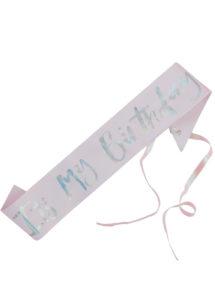 écharpe anniversaire, accessoire anniversaire, écharpes anniversaires, Echarpe Anniversaire, It's My Birthday, Pastel Irisé
