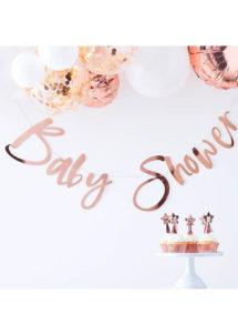 guirlande baby shower, décorations baby showers, décos babyshower, guirlandes baby showers fille, guirlandes baby shower garçon, ginger ray, Décoration Baby Shower, Guirlande Baby Shower, Rose Gold