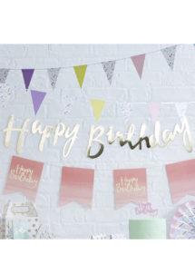 guirlande anniversaire, guirlande happy birthday, décorations anniversaire, ginger ray, Guirlande Anniversaire, Happy Birthday Or