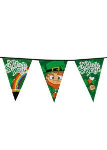 guirlande fanions saint patrick, décorations saint patrick, guirlande saint patrick's day, guirlande de fanions saint patrick, Guirlande Saint Patrick's Day, Fanions Leprechaun XL