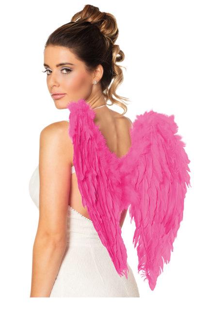 ailes de déguisement, ailes pour se déguiser, ailes d'anges roses, ailes d'ange rose, ailes en plumes, ailes roses, Ailes d'Ange, Rose Fuchsia