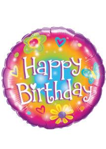 ballon hélium, ballon anniversaire, ballon aluminium, ballons hélium, Ballon Anniversaire, Happy Birthday Bright, en Aluminium