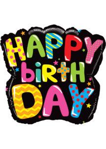 ballon hélium, ballon anniversaire, ballon aluminium, ballons hélium, Ballon Anniversaire, Mighty Black, en Aluminium