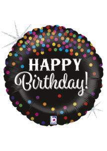 ballon hélium, ballon anniversaire, ballon aluminium, ballons hélium, Ballon Anniversaire, Glittering Confettis, en Aluminium
