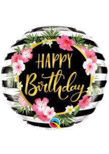 ballon hélium, ballon anniversaire, ballon aluminium, ballons hélium, Ballon Anniversaire, Hibiscus, en Aluminium