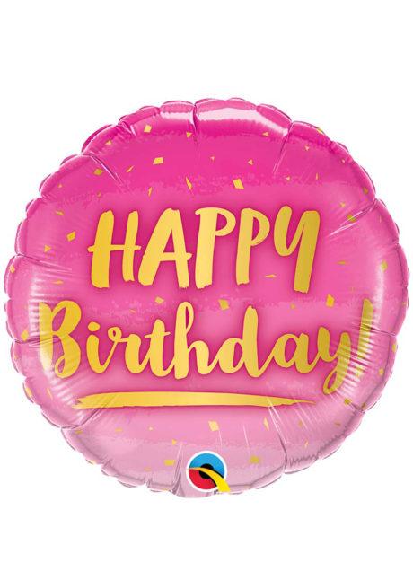 ballon hélium, ballon anniversaire, ballon aluminium, ballons hélium, Ballon Anniversaire, Rose et Or, en Aluminium