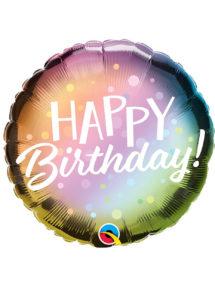 ballon hélium, ballon anniversaire, ballon aluminium, ballons hélium, Ballon Anniversaire, Dégradé Pastel Dots, en Aluminium