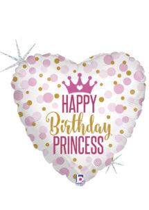 ballon hélium, ballon anniversaire, ballon aluminium, ballons hélium, Ballon Anniversaire, Coeur Princesse, en Aluminium