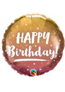 ballon hélium, ballon anniversaire, ballon aluminium, ballons hélium, Ballon Anniversaire, Dégradé Rose Gold, en Aluminium