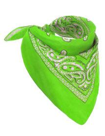 bandana vert, bandana fluo, accessoire fluo, soirée fluo, Bandana Fluo, Vert