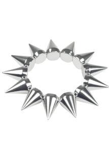 bracelet pics argent, bracelet spike, bracelet rock, bracelet punk, Bracelet à Pics, Argent
