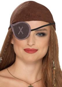 cache oeil de pirate, accessoire déguisement pirate, bandeau pirate déguisement, cache oeil déguisement pirate, accessoire déguisement, accessoire pirate, Cache Oeil de Pirate, Effet Daim, Gris