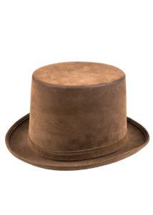 chapeau haut de forme, chapeau marron, chapeau steampunk, chapeau haut de forme qualité, chapeau déguisement, Chapeau Haut de Forme Marron, Luxe