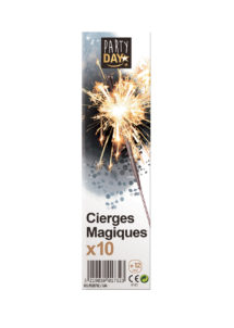 cierges magiques, fontaines des glaces, cierges magiques crépitants, Cierges Magiques, 18 cm