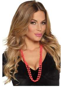 collier perles rouges, collier de perles, collier rouge, Collier de Perles, x 2, Rouges