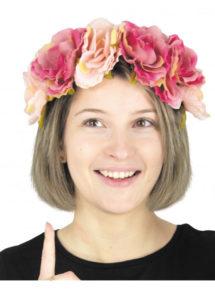 couronne de fleurs, serre tête fleurs, diadème de fleurs, Bandeau Couronne de Fleurs Vintage