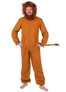 déguisement de lion adulte, costume de lion pour adulte, déguisements animaux adultes, costumes animaux adultes, déguisement lion homme, Déguisement de Lion, Combinaison Capuche Fourrure