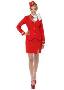déguisement hotesse de l'air femme, costume hôtesse de l'air adulte, déguisement hôtesse de l'air adulte, déguisement métiers femme, Déguisement d'Hôtesse de l'Air, Dolly Rouge