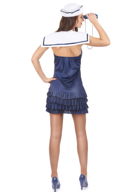déguisement marin femme, déguisement marine femme, costume marine femme, déguisement de marin pour femme, Déguisement Marine, Col Blanc et Noeud Rouge