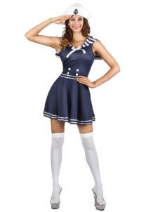 déguisement marin femme, déguisement marine femme, costume marine femme, déguisement de marin pour femme, Déguisement Marine, Col de Marin à Rayures