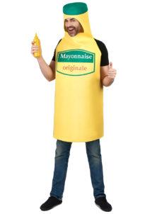 déguisement mayonnaise adulte, costume mayonnaise adulte, déguisement tube de mayonnaise homme, déguisement Mayo, Déguisement Bouteille de Mayonnaise