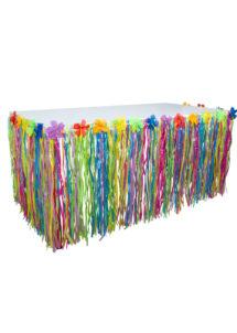 jupe de table hawaïenne, jupe de table hawaï, décorations hawaïennes, Jupe de Table Hawaïenne, Multicolore