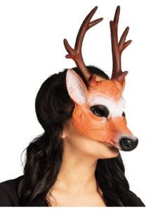 masque de cerf latex, masque de cerf, masques animaux, masques animaux de la forêt, Masque de Cerf, Demi Visage