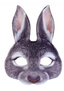 masques d'animaux, demi masques animaux, masque de lapin, Masque de Lapin, Demi Visage