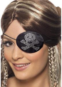 cache oeil de pirate, accessoire déguisement pirate, bandeau pirate déguisement, cache oeil déguisement pirate, accessoire déguisement, accessoire pirate, Cache Oeil de Pirate, Tête de Mort Mini Clous