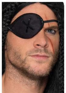 cache oeil de pirate, accessoire déguisement pirate, bandeau pirate déguisement, cache oeil déguisement pirate, accessoire déguisement, accessoire pirate, Cache Oeil de Pirate, Effet Daim, Noir