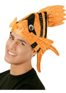 chapeau poisson, chapeaux humour, chapeaux animaux, déguisement de poisson, accessoires déguisement thème mer, Chapeau Poisson, Orange