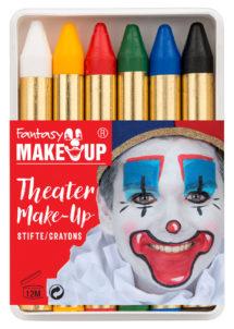 crayons à maquillage, crayon gras à maquillage, crayon gras maquillage, crayon à maquillage déguisement, maquillage déguisement, crayon maquillage halloween, crayon maquillage fête, crayon maquillage gras, palette crayons maquillage, Crayons Gras à Maquillage, x 6, Fantasy