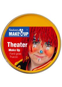 fard gras, peinture corps et visage, maquillage carnaval, maquillage Halloween, fard gras jaune, Peinture Jaune, Fard Gras, Corps et Visage