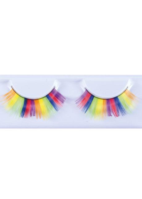 faux cils arc en ciel, faux cils multicolores, faux cils lgbt, accessoire lgbt, faux cils gay Pride, Faux Cils Arc en Ciel