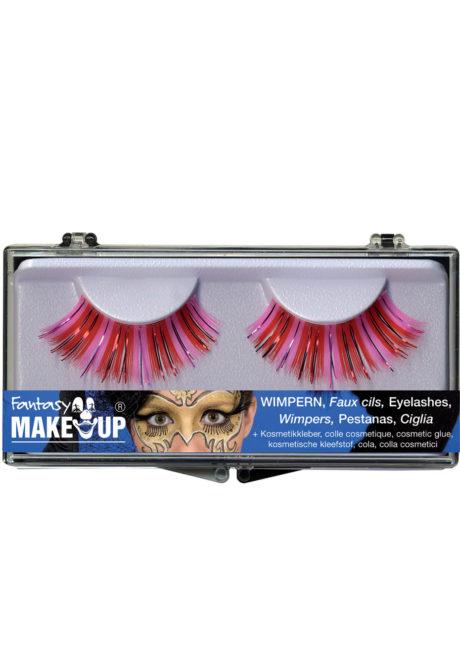 faux cils roses, faux cils brillants, faux cils disco, Faux Cils Hot Pink Métallisés
