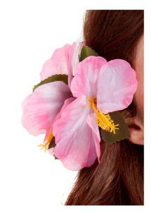 fleurs cheveux, fleur hawai cheveux, Barrette Fleur Hibiscus Rose