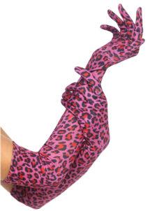 gants léopard, gants léopard rose, léopard accessoires, Gants Léopard, Roses