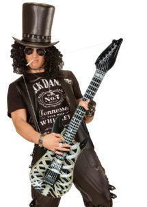 guitare électrique gonflable, guitare déguisement, accessoire rock déguisement, accessoire chanteur déguisement, fausse guitare électrique déguisement, Guitare Electrique Gonflable, Squelette