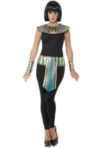 accessoire égyptienne, accessoire cleopatre, col d'égyptienne, faux col accessoire Egypte,, Kit Cléopatre, Col + Ceinture + Bracelets