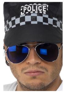 lunettes aviateurs, lunettes pilote, lunettes police, Lunettes d'Aviateur ou Police, Verres Bleus Miroirs
