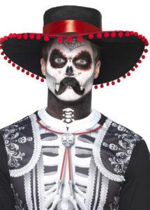 kit maquillage dia de los muertos, kit maquillage jour des morts, kit maquillage day of death, maquillage mort mexicaine, Kit de Maquillage Jour des Morts, avec Moustache