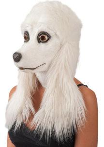 masque de chien, masque de caniche, masque de déguisement, masque animaux, masque animal latex, Masque de Caniche, Latex