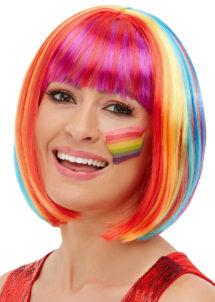 perruque multicolore, perruque licorne, perruque lgbt, perruque arc en ciel, Perruque Rainbow, Arc en Ciel